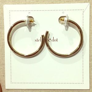 New Stella & Dot hooped earrings